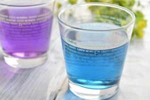 藍と紫のお茶