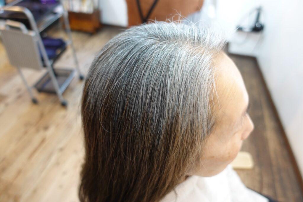 ヘナ染め 染める前 白髪多い