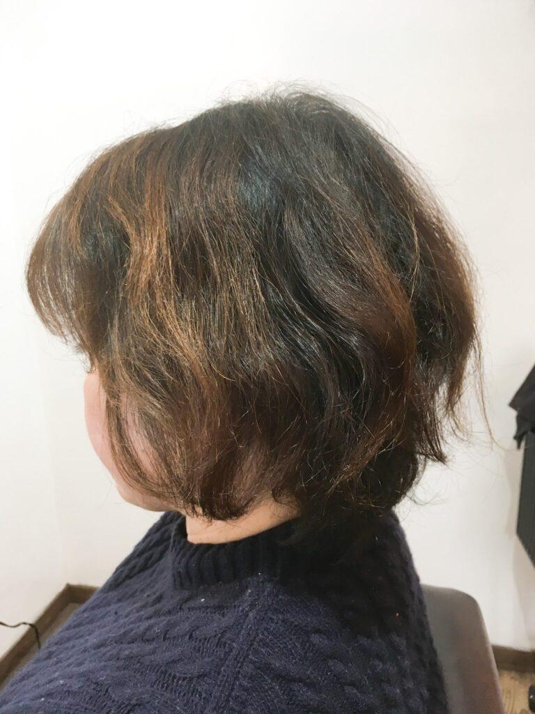 髪質改善 アフター
